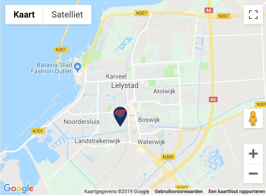 Maps afbeelding AST Car Technics Lelystad
